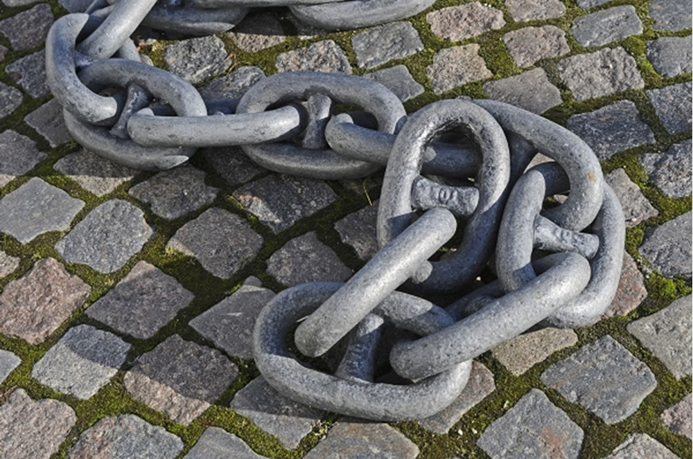 Close up of iron chain