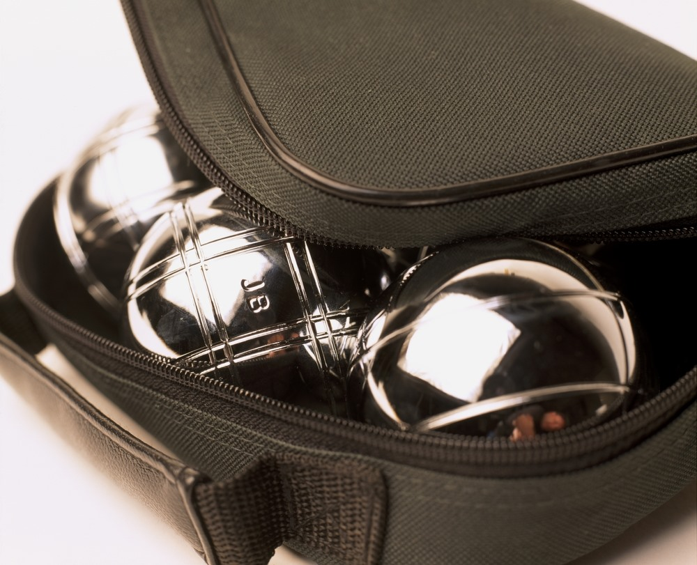 Iron balls in a bag