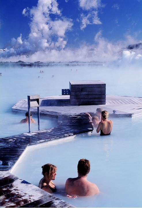 People relaxing in the Blue lagoon.