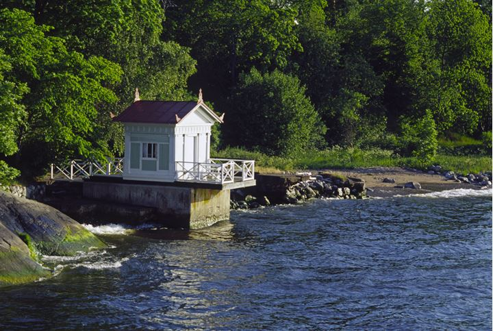 Small house on a river side